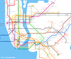 Metro Rail Map by Urbanrail Net U003e America U003e Usa U003e New York U003e New York City Subway U0026 Path