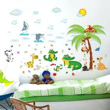 dessin chambre enfant stickers muraux chambre enfant mignon lapin de dessin animac
