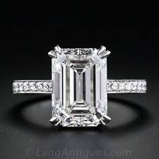 horizontal emerald cut engagement ring the cut of that is totally trending right now emerald