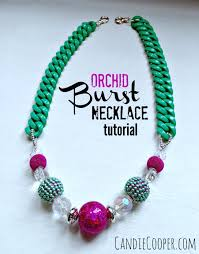 making necklace beads images How to make a statement necklace with resin chain and beads jpg