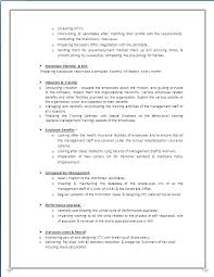 Mis Profile Resume A Beautyful Resume Sample In Word Doc Mba Hr With 4 Years
