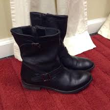 motorcycle black boots j jill groupie whipstitch leather moto black boots on sale 57