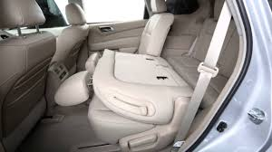 nissan pathfinder seat covers 2013 nissan pathfinder folding rear seats youtube