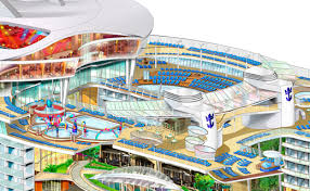 oasis of the seas floor plan cutaway illustrations day dc s