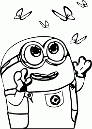 minions coloring pages bob coloring home