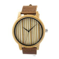 simple wood bobo bird a19 mens womens bamboo simple wood quartz wristwa