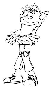 Coloring Download Free Crash Bandicoot Coloring Pages Crash Crash Bandicoot Coloring Pages