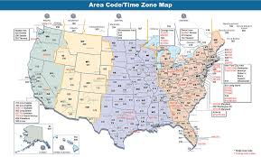 510 us area code time zone list and map of united states telephone area codes