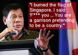 Singapore Flag Button I Burned The Flag Of Singapore 10 Of Philippine U0027s Duterte U0027s Most