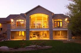 walkout basement design stinson gables oke woodsmith building systems inc house plans 51156