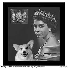 Queen Elizabeth Ii Corgis by Young Queen Elizabeth Ii Et Corgi Dog Poster Cffc Afd Xvw Byvr