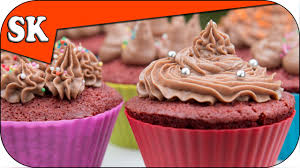 how to make red velvet cup cakes with a nutella frosting youtube