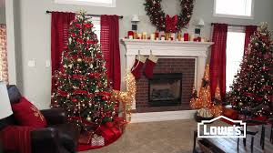 christmas home decorations ideas living room christmas decorating tips lowes creative ideas youtube