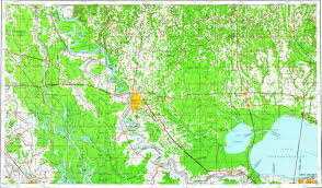 Baton Rouge Map Download Topographic Map In Area Of Baton Rouge Kenner Laplace