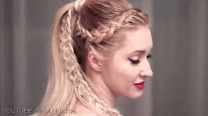 high ponytail hairstyles tutorial for long hair flower braided