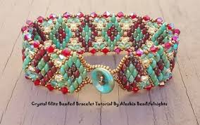 beading bracelet tutorials images Superduo and crystal beaded bracelet tutorials the beading gem 39 s JPG