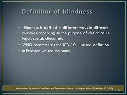 Icd 9 Code For Legal Blindness Ayesha Abdullah By The End Of This Lecture The Students Should Be