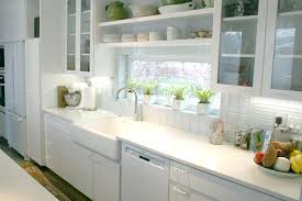 kitchen window backsplash biscuit subway tile backsplash white subway tile around kitchen