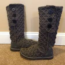 ugg womens lyla boots charcoal 40 ugg shoes charcoal grey lattice cardy uggs from