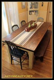 Woodworking Plans For Kitchen Tables by Remodelaholic Build A Farmhouse Table For Under 100