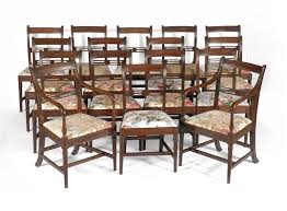Antique Dining Chairs Set Of 16 Regency Mahogany Dining Chairs Clocks 12019 Gary