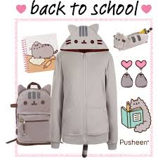 pusheen earrings back to school with pusheen polyvore