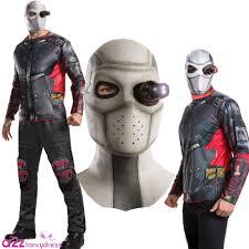 new squad deadshot mask mens halloween fancy dress