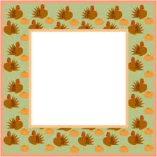 thanksgiving clip border turkeys picture frame