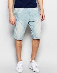 mens light blue shorts factory direct pricing jack jones light wash anti fit denim shorts