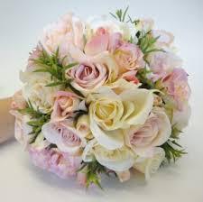silk wedding bouquets silk wedding flowers impressive vintage style wedding bouquet pink