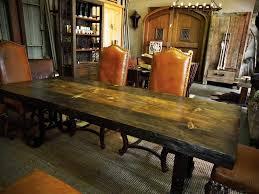 Custom Dining Room Furniture Live Edge Custom Dining Table Wrought Iron