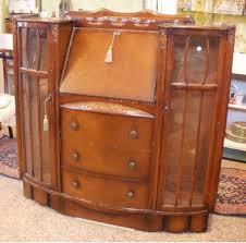 Antique Oak Secretary Desk With Hutch by Antique Oak Drop Front Secretary Desk W 2 Side Glass Doors Display