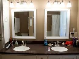 bathroom mirror green frame wood bathroom mirror frames