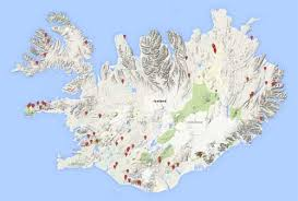 iceland map iceland waterfalls europe of waterfalls