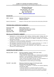 resume foemat b pharma fresher resume template example