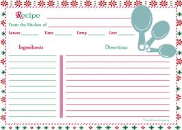 recipes printables by design