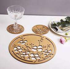 table mats and coasters joy table mats and coasters gift set by natural gift store