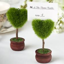 photo holder unique heart design topiary place card holder