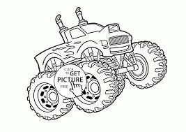 cool monster truck coloring kids transportation coloring