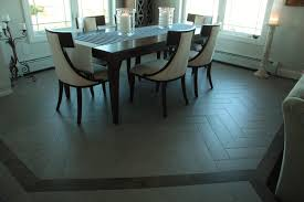 Maine Dining Room Chevron Tile Maine Dining Room Capozza Tile Flooring Center