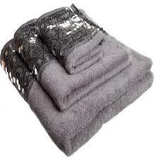 Modern Bathroom Towels Sinatra Silver 3 Bath Towel Towel And Wash Cloth Set