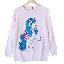h u0026m vintage look my little pony long ugly sweater pink the