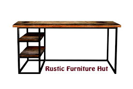Modern Industrial Desk Hand Crafted Modern Industrial Desk With Shelves Urban Wood