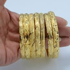 bangle bracelet color gold plated images Wholesale fashion dubai gold bangle jewelry 18k gold plated jpg