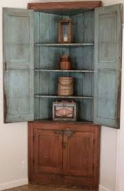 Corner Cabinet With Doors by 19th Century Salmon And Robin U0027s Egg Blue Paint Wood Corner