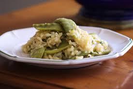 comment cuisiner des pois gourmands risotto aux pois gourmands et courgettes de cuisine de l