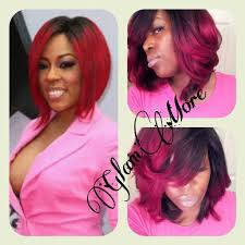 k michelle bob hairstyles k michelle inspired red ombre quickweave youtube