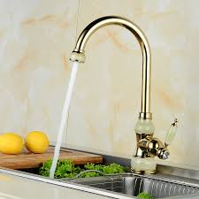 European Kitchen Faucets European Jade And Gold Kitchen Faucet And Cold