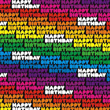 gift wrap paper new 3 sheets happy birthday rainbow multi coloured gift wrap