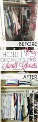 Small Bedroom Closet Organization Tips 276 Best Home Organization Ideas Images On Pinterest Organizing